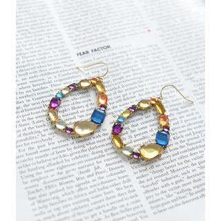 Petit et Belle - Rhinestone Teardrop Earrings