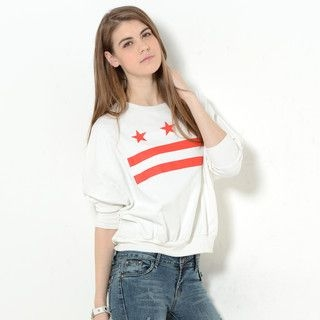 59 Seconds - Dolman Sleeve Print Pullover