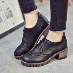 Yoflap - Chunky Heel Brogue Oxfords