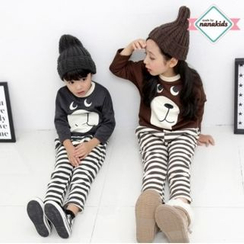 nanakids - Kids Bear Print Brushed-Fleece Lined T-Shirt