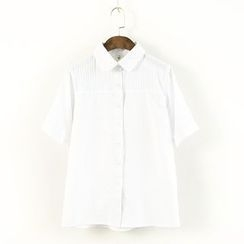 Ranche - Embroidered Short-Sleeve Shirt