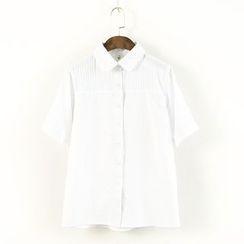 蘭芝 - 短袖刺繡襯衫