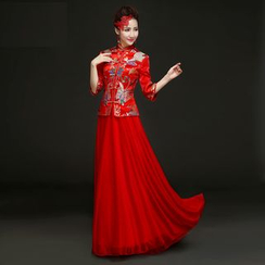 Amanecer - Jacquard Cheongsam Wedding Dress