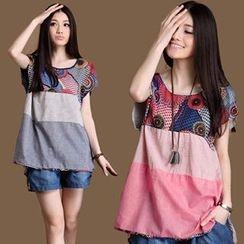 chic n' fab - Print Short-Sleeve T-Shirt