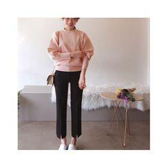 LEELIN - Puff-Sleeve Knit Top
