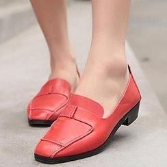 Mancienne - Faux-Leather Block Heels