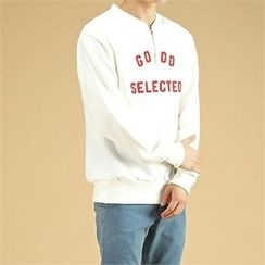 THE COVER - Zip-Front Lettering Sweatshirt