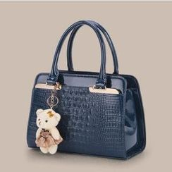 Rabbit Bag - Faux-Leather Croc-Grain Tote