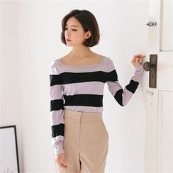 MAGJAY - Boatneck Striped Top