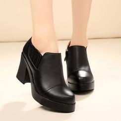Hannah - Platform Block Heel Ankle Boots