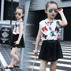 Pegasus - Kids Set: Sleeveless Print Shirt + Skirt