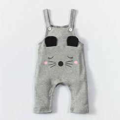 MOM Kiss - Baby Animal Print Pinafore Jumpsuit