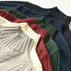 Ranche - Mock Neck Cable Knit Sweater
