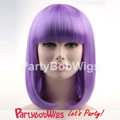 Party Wigs - PartyBobWigs - Party Medium Bob Wig - Purple