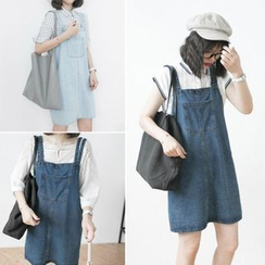 Moon City - Denim Jumper Skirt