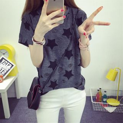 Ukiyo - Star Printed Short-Sleeve T-shirt