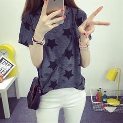 Ukiyo - 星星印花短袖T恤