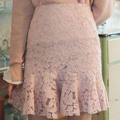 chuu - Lace Mini Mermaid Skirt