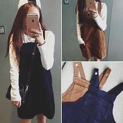 Glen Glam - Corduroy Jumper Skirt