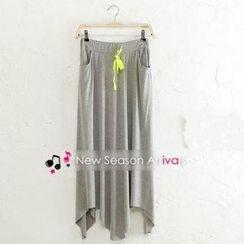 JVL - Hanky-Hem Drawstring Long Skirt