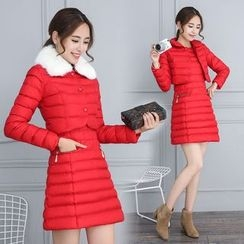 Romantica - Set: Padded Jacket + Long-Sleeve Dress
