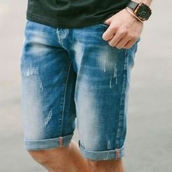 SeventyAge - Denim Shorts