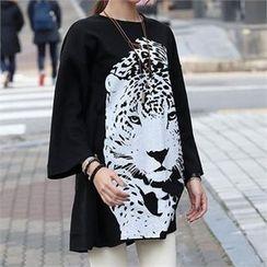 CHICFOX - Printed Long T-Shirt