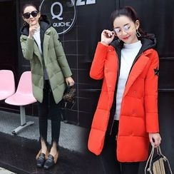 AiSun - Hooded Padded Long Coat