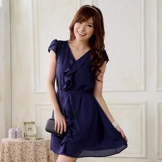 JK2 - Ruffled A-Line Dress