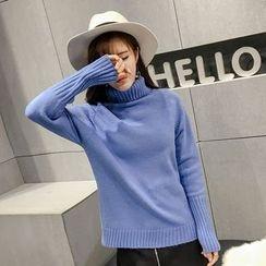 Honeydew - 純色樽領毛衣