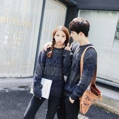 Simpair - Couple Matching Gradient Cable Knit Sweater