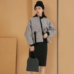 AC - Zipper-Side Wool Jacket