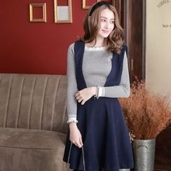 Tokyo Fashion - Plain A-Line Jumper Skirt