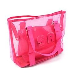 Sunset Hours - Transparent Shoulder Bag with Pouch