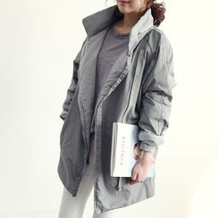 NANING9 - Wrapped Zip Coat