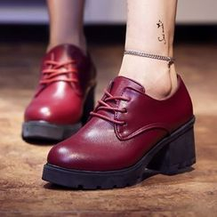Sidewalk - 厚底繫帶鞋