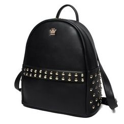 Princess Carousel - Faux Leather Studded Backpack