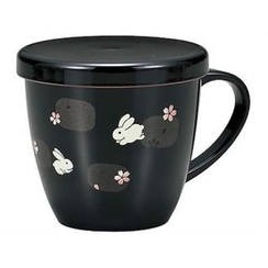 Hakoya - Hakoya Mug Cup with Lid Black Usagi Asobi
