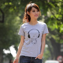 Porspor - Cartoon Print T-Shirt