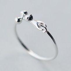 A'ROCH - 925纯银猫戒指