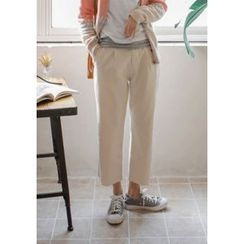 GOROKE - Fray-Hem Wide-Leg Pants