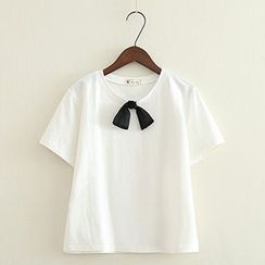 ninna nanna - Bow Short-Sleeve T-Shirt