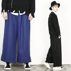 Remember Click - Band-Waist Wide-Leg Pants