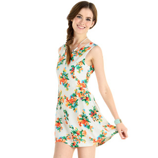 59 Seconds - Floral Tank Dress