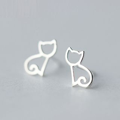 A'ROCH - 925 Sterling Silver Cat Earrings