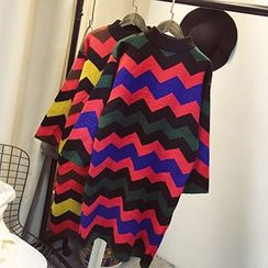Polaris - Chevron Sweater Dress