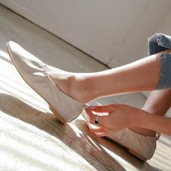 JUSTONE - 鬆緊帶芭蕾舞鞋平跟鞋