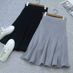 Oh My Love - Knit A-Line Skirt