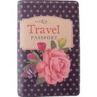 Dmotion - Polka-Dot Rose Illustrate Passport Holder