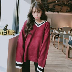 Dute - V-Neck Long Sweater